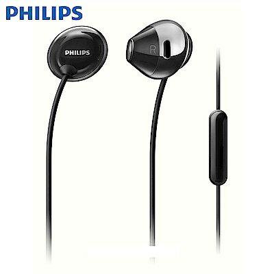 [富廉網]【PHILIPS】飛利浦Flite隱形觸感清晰音效耳機麥克風SHE4205黑白