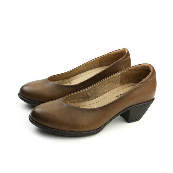 HUMAN PEACE 牛皮 低跟鞋 棕色 女鞋 6265 no329