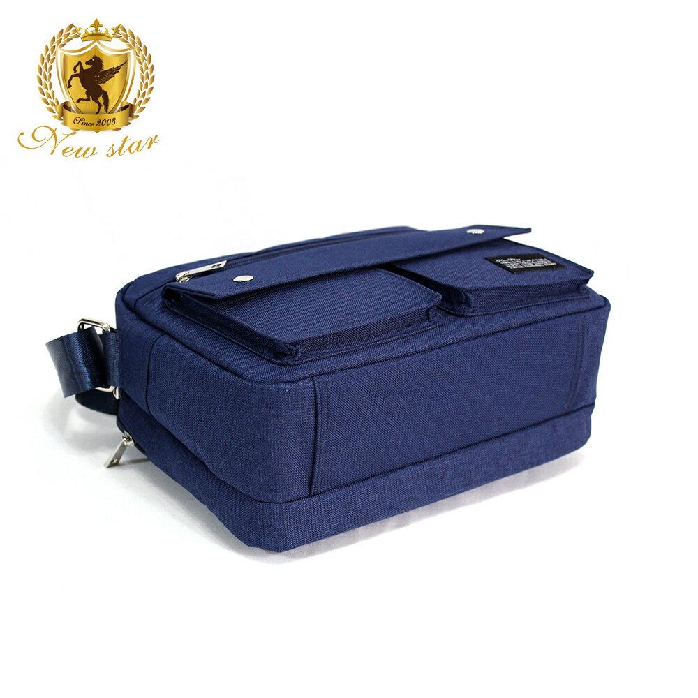 經典雙口袋雙層側背包 (日系 防水 機能 斜背包  NEW STAR BL133 5