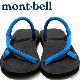 Mont-Bell 日系圓織帶休閒拖鞋/戶外涼鞋 Sock-on sandals 1129396_nv-rb 藍/皇家藍