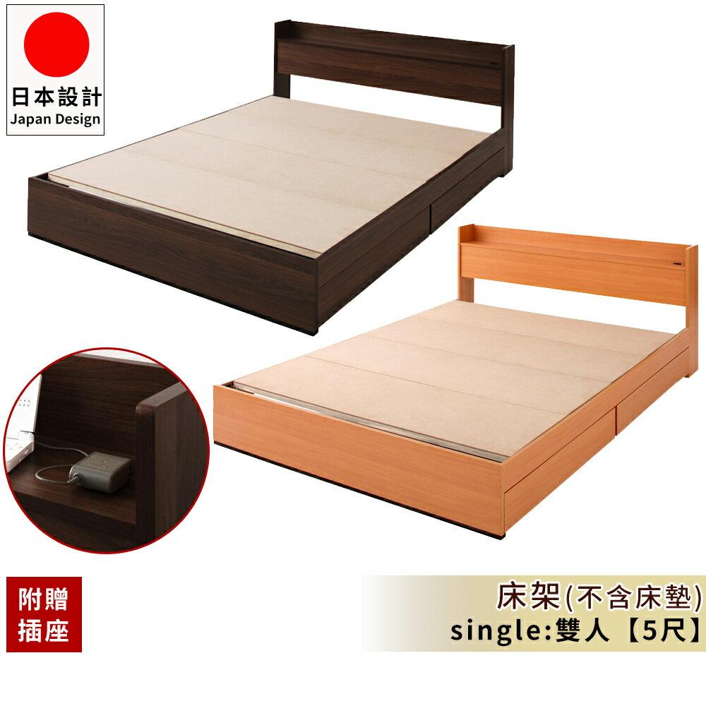 床 床墊~Y0219~附插座 Ever限定 床架 雙人5尺 完美主義