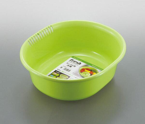 【晨光】日本製Sanadaサナダ精工株式会社濾水籃洗菜籃綠色(020336020350)【現貨】
