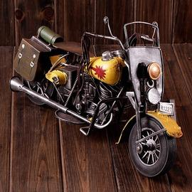 zakka雜貨 手工做舊摩托車 鐵皮玩具 懷舊擺件  A39-1825
