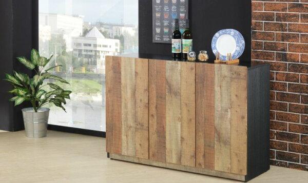 尚品傢俱:【尚品傢俱】JF-404-1尼克森4尺厚切木紋三門收納櫃