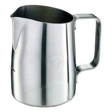 金時代書香咖啡  Tiamo 斜口拉花杯 450cc - 尖口設計 (砂光)  HC7107ST