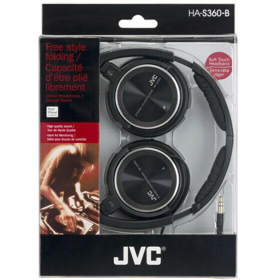 <br/><br/>  JVC HA-S360 輕型耳罩摺疊式立體聲耳機 (黑色),公司貨<br/><br/>