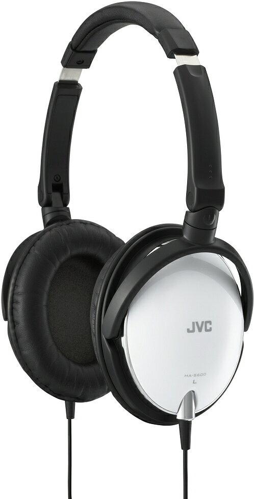 (特價福利品) JVC HA-S600 白色 摺疊全罩式立體聲耳機 原價1590