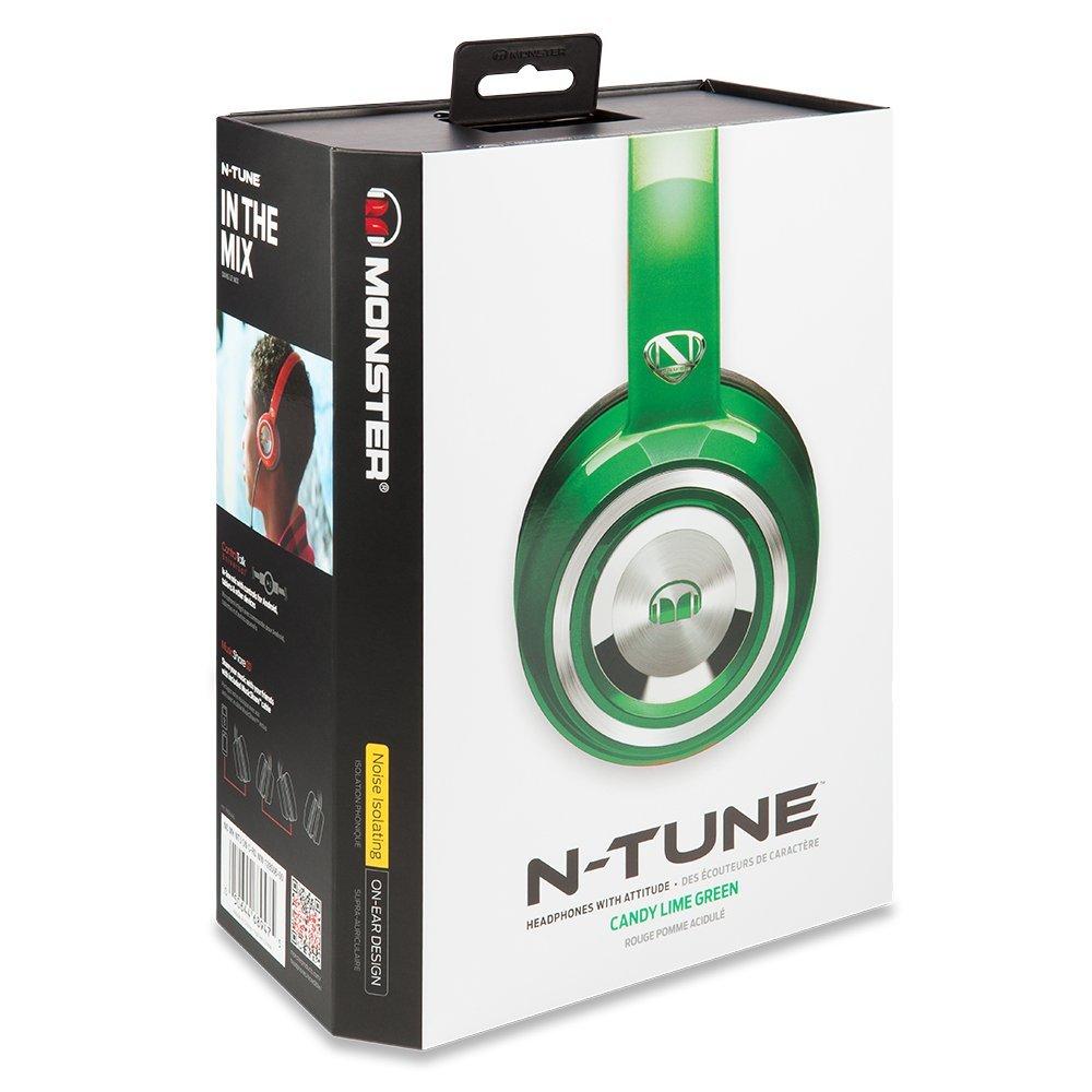 美國 Monster N~TUNE V3 糖果繽紛色彩^(綠色^) 耳罩式線控耳機 貨 一