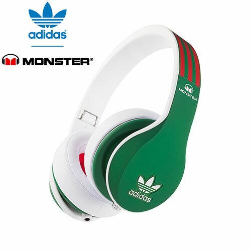 <br/><br/>  美國 Monster x adidas 聯名限量版耳罩式耳機(紅綠)公司貨,附保卡,一年保固<br/><br/>