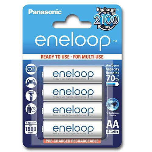 日本製 Panasonic 國際牌 eneloop 3號AA 可充2100次, 低自放電電池, 8入裝送電池盒x2