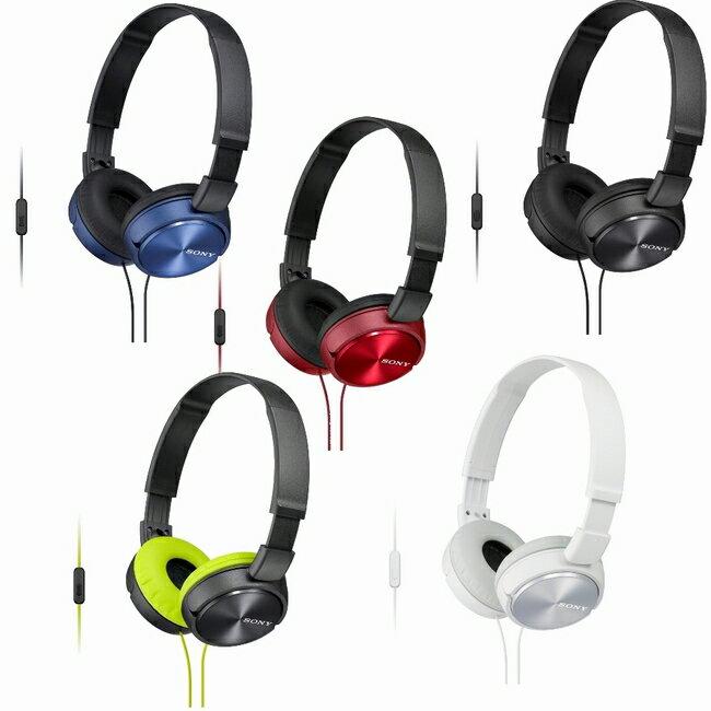 SONY MDR-ZX310AP (附收納袋) 摺疊耳罩式立體聲耳機附通話麥克風,公司貨附保卡,保固一年