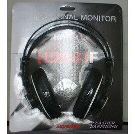 舒伯樂Superlux HD-681F /HD681F人聲表現加強版 半開放式專業用監聽耳罩式耳機,公司貨,保固一年