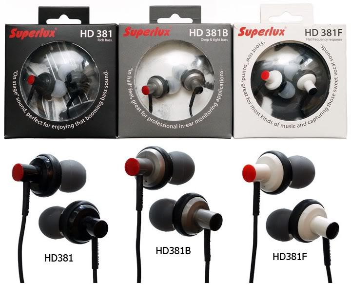 Superlux HD381+ HD381F+ HD381B , 專業級耳道式耳機3組不同特色耳機,原廠保固一年,全新品