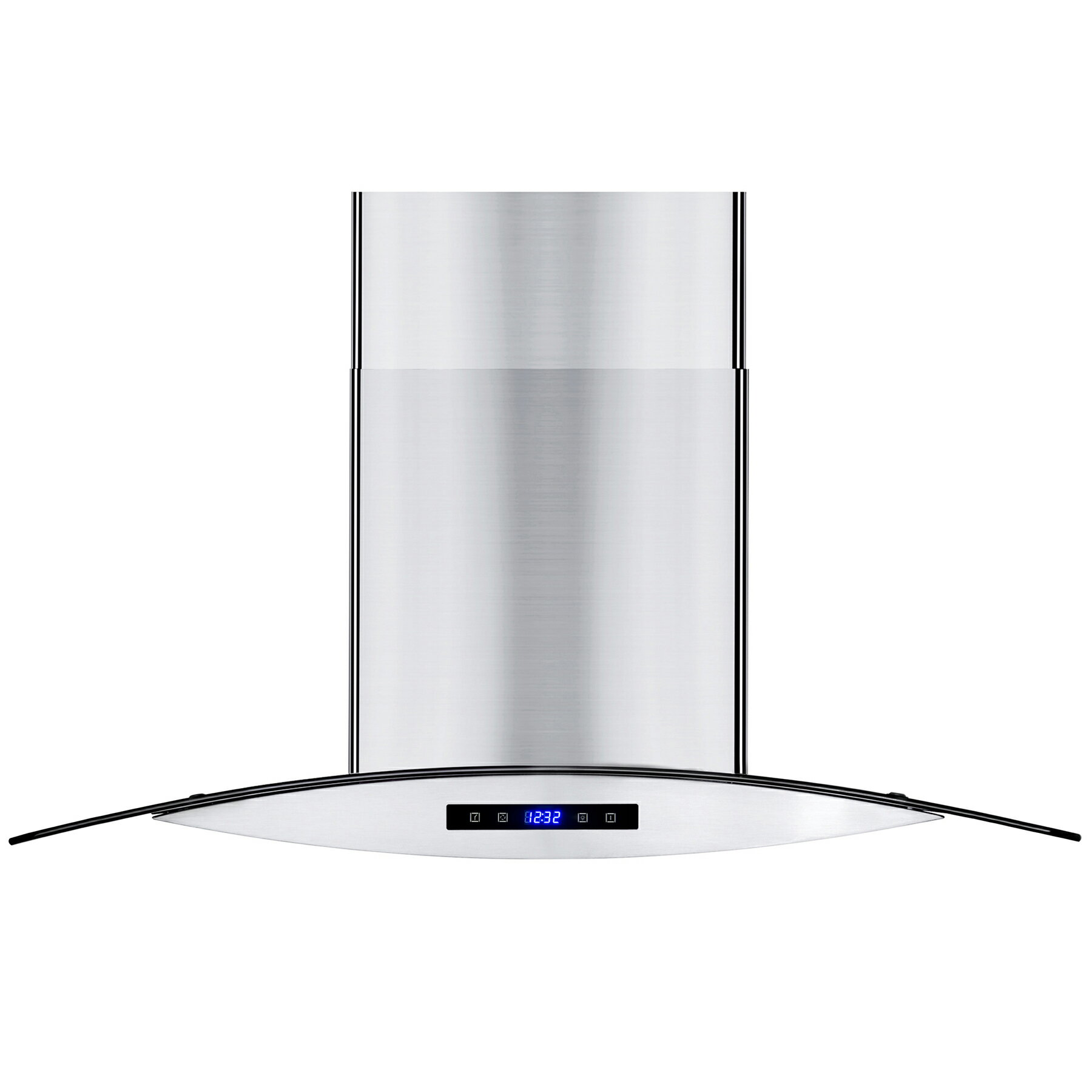 """AKDY 30"""" Island Mount Stainless Steel Tempered Glass Touch Panel Kitchen Range Hood Cooking Fan 1"""