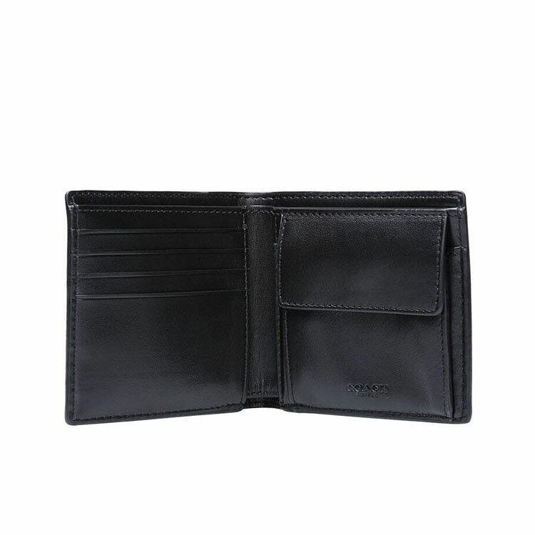 COACH  F75006 男款短款對折錢包錢夾黑色 1