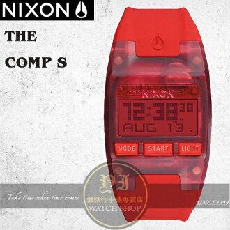 NIXON 實體店The COMP S浪花潮流腕錶ALL RED公司貨A336-191/極限運動