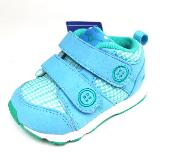 陽光運動館:MIZUNO美津濃幼童鞋促進發育鞋墊魔鬼氈學步鞋布鞋HUGMOCKINFANTK1GD163123(粉藍綠)[陽光樂活]