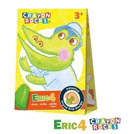 【淘氣寶寶】美國 Crayon Rocks 酷蠟石4色- 艾瑞克【3D著色紙,Crayon Rocks 大豆蠟兒童安全蠟筆】