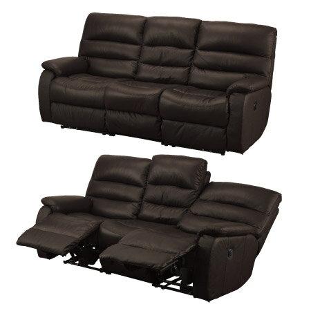 ◎(OUTLET)全皮3人用頂級電動可躺沙發 BELIEVER2 DBR NITORI宜得利家居 1