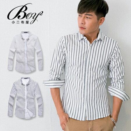 ☆BOY-2☆【NR92011】紳士休閒直條紋長袖襯衫 0