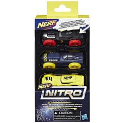 《 NERF 樂活打擊 》NERF NITRO 極限射擊賽車3入車輛組 Set4