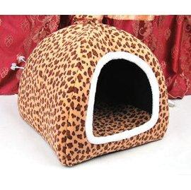~寵物屋~豹紋窩~PP棉~S~38~38~蒙古包 保暖寵物窩 貓窩 窩 3kg ,S :