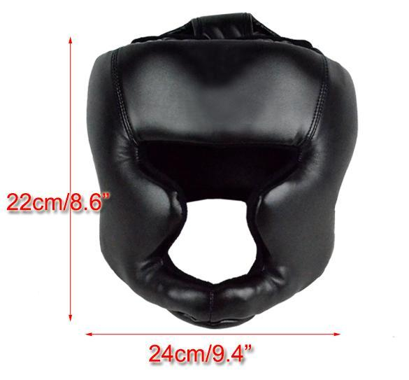 Headgear Head Guard Training Helmet Kick Boxing Protect Gear Black 1