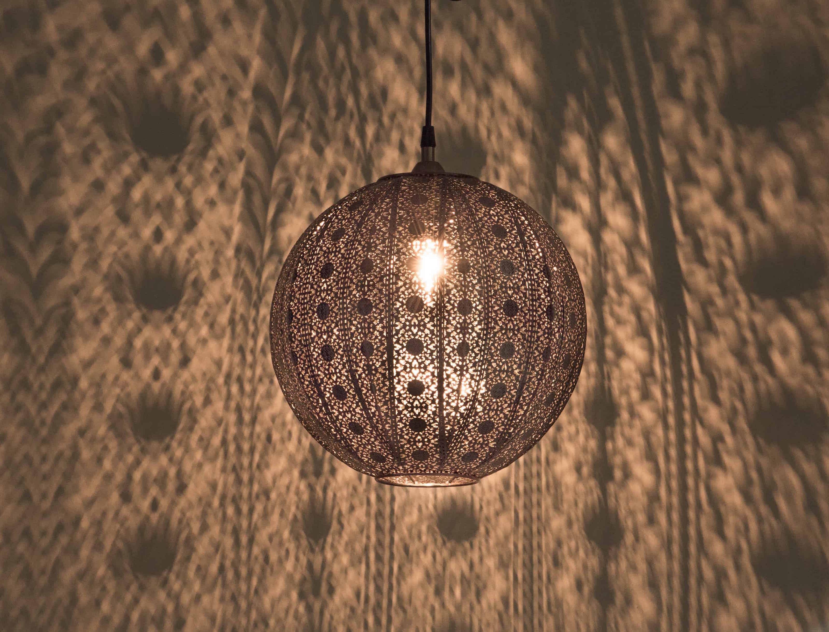 紅銅刷黑蕾絲花邊圓形吊燈-BNL00075 6