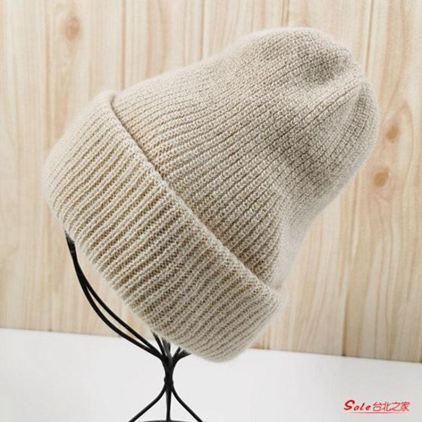 毛帽 羊毛帽子女秋冬韓版毛線堆堆帽百搭ins大頭圍保暖針織帽冷帽男潮