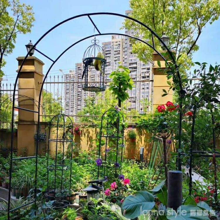鐵藝戶外葡萄引路架拱門花架薔薇爬藤架子月季絲瓜拱形攀爬花支架