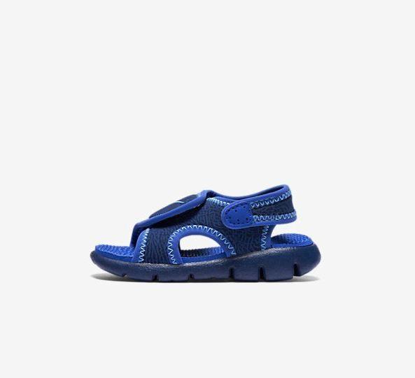 NIKE SUNRAY ADJUST 4 童鞋 小童 涼鞋 休閒 藍 紫【運動世界】 386519-413