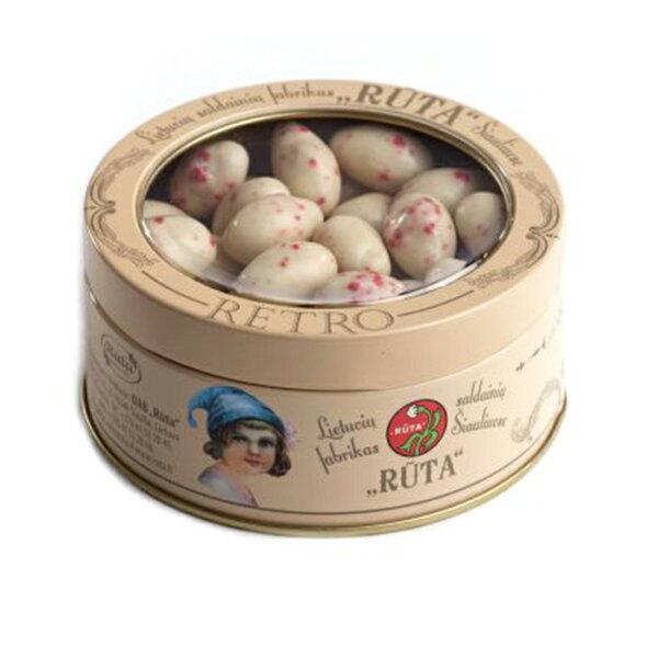 搜茶隊:Ruta歐洲百年巧克力品牌_草莓杏仁果白巧克力(復古鐵盒包裝)
