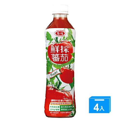 爱之味鲜采蕃茄综合蔬菜汁540ML*4【爱买】