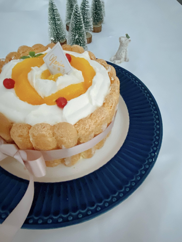 ◆香橙生乳酪夏洛特◆ 母親節蛋糕6吋