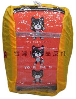 ~雪黛屋~UNME 雨衣罩台灣製造背包雨衣罩40L輕巧好收納不占空間可掛於包包輕便攜帶防水尼龍+透明PVC材質D1528