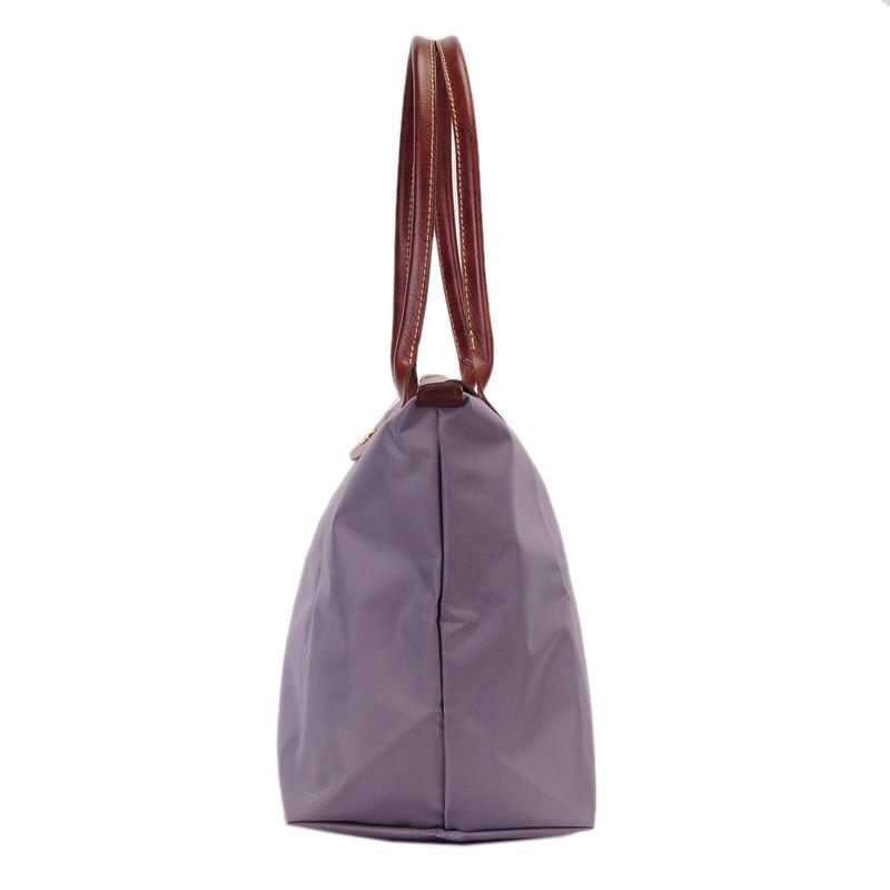 [長柄M號]國外Outlet代購正品 法國巴黎 Longchamp [1899-M號] 長柄 購物袋防水尼龍手提肩背水餃包 薰衣草 2