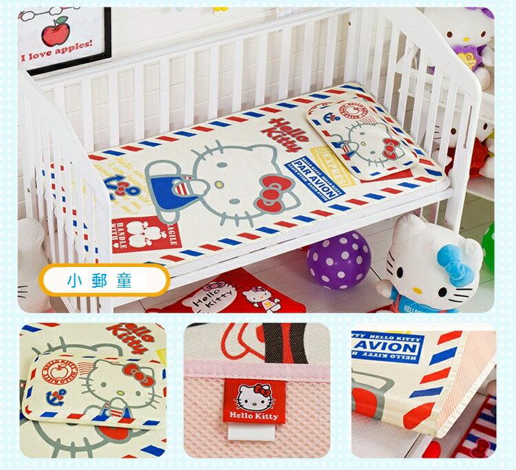 嬰兒涼席 寶寶涼席 嬰兒床罩 正版hello kitty夏季午睡幼稚園兒童專用冰絲涼席 出生兒~幼稚園都可使用