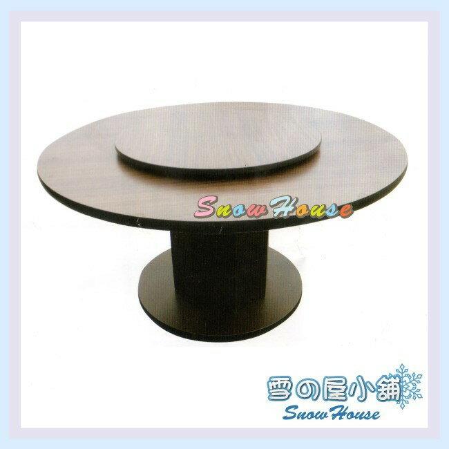 ╭☆雪之屋居家生活館☆╯AA634-15 4尺胡桃圓盤型圓桌(含2.5尺轉盤/DIY自組)