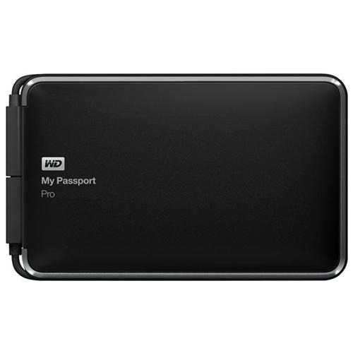 WD My Passport Pro WDBRMP0020DBK-NESN DAS Array - 2 x HDD Supported - 2 TB Installed HDD Capacity - 2 x Total Bays - Thunderbolt - 0, 1, JBOD RAID Levels Portable 0