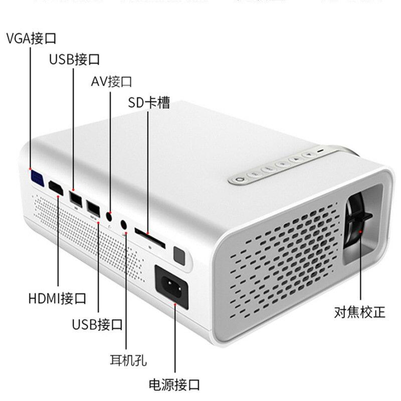 【限時結帳領券現折30】新款投影儀YG530手機無線同屏微型便攜家用投影機支持1080P高清 【妙吉生活館】