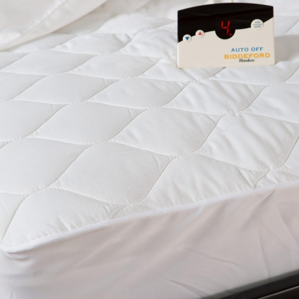 Biddeford 5201 505222 100 Quilted Electric Heated Mattress Pad Full 0