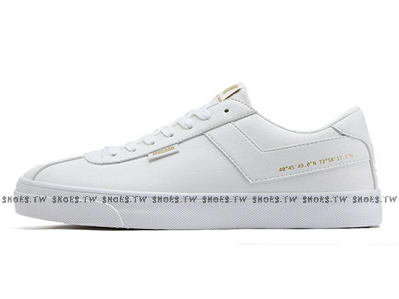Shoestw【83M1MC01RW】PONY Macado 板鞋 休閒鞋 皮革 白金 男生 蔡依林 周筆暢 雙后代言 2