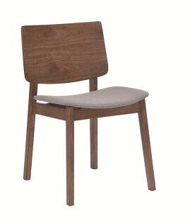 【石川家居】JF-482-15卡爾文胡桃布餐椅(單只)(不含其他商品)台北到高雄搭配車趟免運