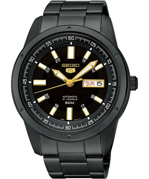 Seiko 精工五號 7S26-04A0SD(SNKN17J)經典紳士機械腕錶/黑面43mm