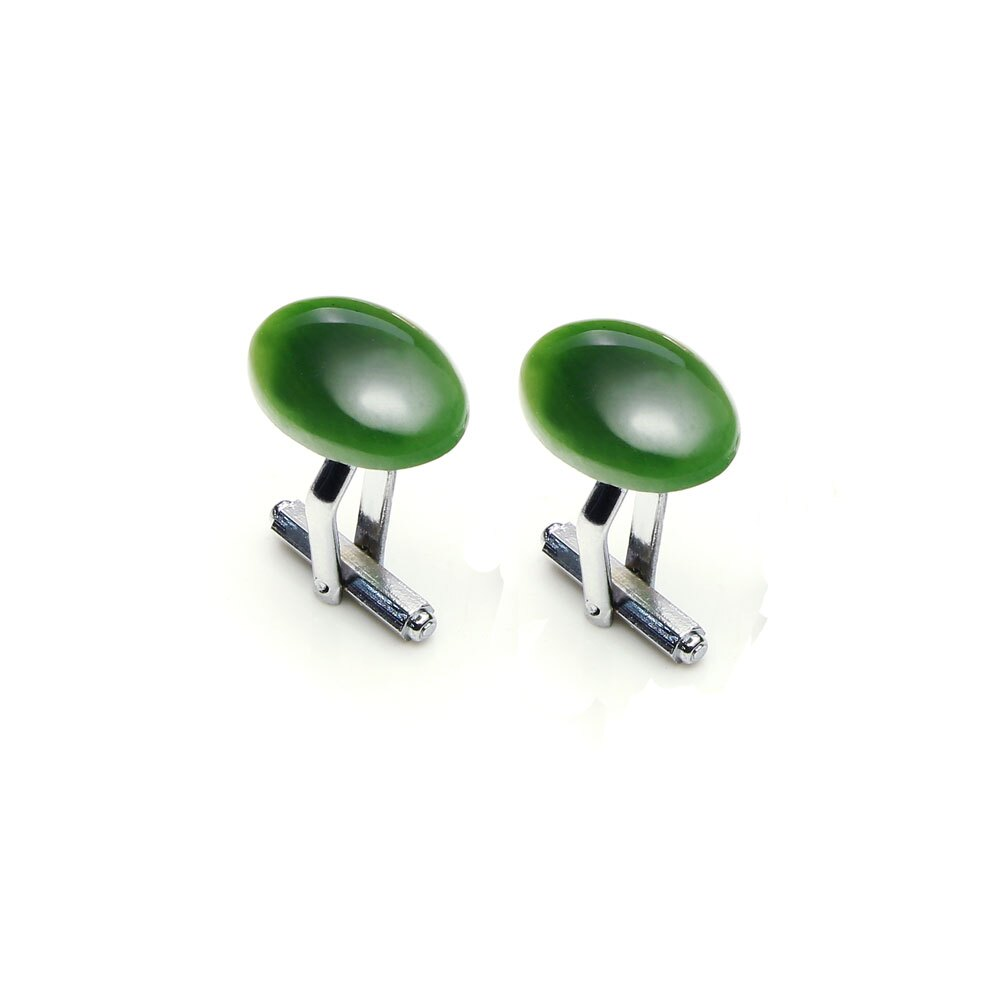 大東山珠寶 極簡綠 仕紳系列 天然碧玉  西裝領徽 袖扣 1