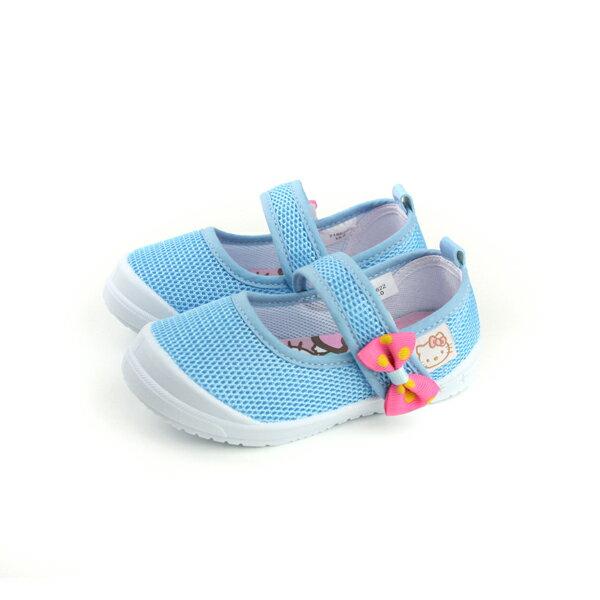 Hello Kitty 凱蒂貓 娃娃鞋 網布 水藍 中童 童鞋 718622 no759 0