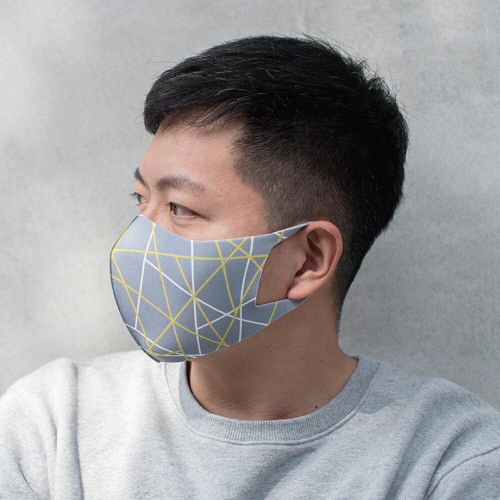 【Prodigy波特鉅】立體線條─抗UV3D立體透氣口罩抗菌1入組