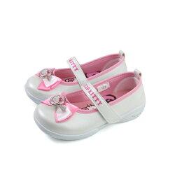 Hello Kitty 凱蒂貓 娃娃鞋 皮質 白色 中童 童鞋 718742 no773