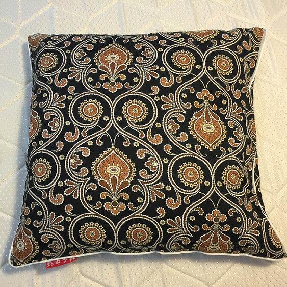 黑色波西米亞 抱枕  45cmx45cm 精選素材 復古 純棉 0