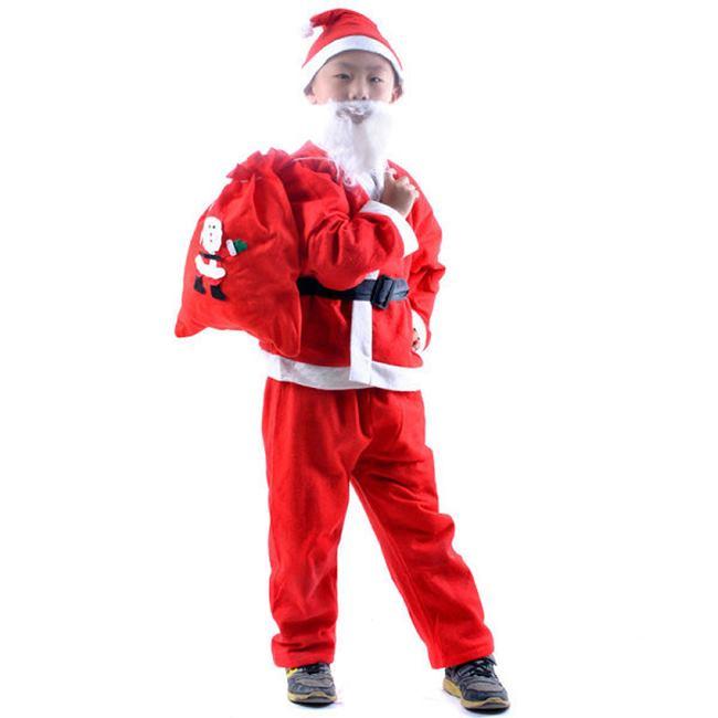 聖誕節 耶誕節 聖誕老公公 禮物包(不織布款-小號) 派對背包 側背包 束口袋 聖誕節裝扮【塔克】